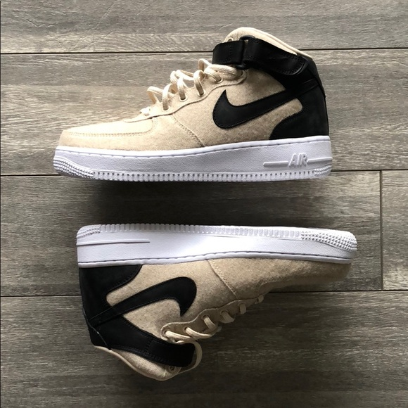 Nike Shoes Nib Wmns Air Force 1 One Mid Lthr Prm Size 8 Poshmark